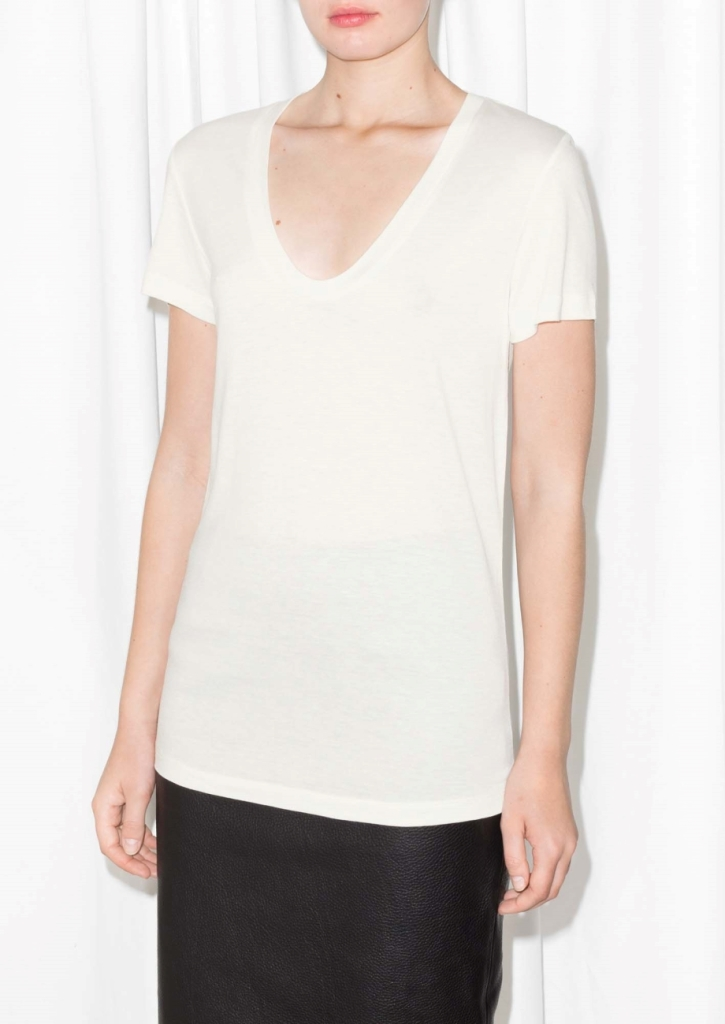 Scooped Neck T-Shirt, $25